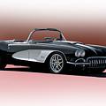 1958 Corvette 'retro' Convertible by Dave Koontz