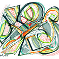 2010 Abstract Drawing Seventeen by Lynne Taetzsch