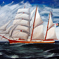 3 Master Tall Ship by Richard Le Page