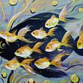 8 Gold Fish by Gina De Gorna