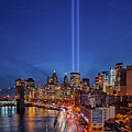 911 Tribute In Light In Nyc by Susan Candelario