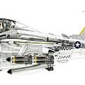 A-6e Intruder Caricature by Morrell Cravens