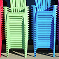A Rainbow Of Chairs by Craig McCausland