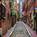 Acorn Street Boston by Larry Richardson