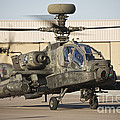Ah-64d Apache Longbow Taxiing by Terry Moore