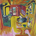 Alpine Kitchen by Ernst Ludwig Kirchner