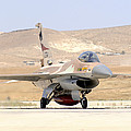 An Israeli Air Force F-16a Netz Taxiing by Riccardo Niccoli