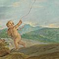 Angel Flying A Kite by Etienne Parrocel