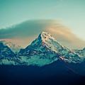 Annapurna South At Sunrise In Himalayas Artmif Photo Raimond Klavins by Raimond Klavins