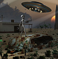 Artists Concept Of A Science Fiction by Mark Stevenson