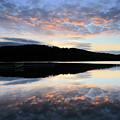 Autumn Sunset, Ladybower Reservoir Derwent Valley Derbyshire by Dave Porter
