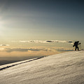Back Country Skiing In The La Sal  Mountains, Utah. by Helix Games Photography
