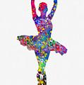 Ballet Dancer-colorful by Erzebet S