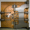 Bank Vault Door Exterior by Adam Crowley