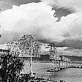 Bay Bridge Under Construction by Underwood Archives