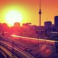 Berlin - Sunset Skyline by Alexander Voss