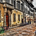 Bicycles In Florence by Reese Lewis