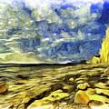 Birling Gap And Seven Sisters Art by David Pyatt