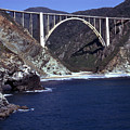 Bixby Creek Aka Rainbow Bridge Bridge Big Sur Photo  by California Views Archives Mr Pat Hathaway Archives