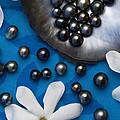 Black Pearls And Tiare Flowers by Jean-Louis Klein & Marie-Luce Hubert