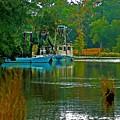2 Blue Shrimp Boats by Michael Thomas
