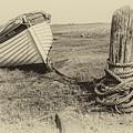 Boat At Porlock Weir. by Paul Cullen