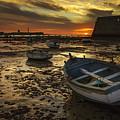 Boats On La Caleta Cadiz Spain by Pablo Avanzini