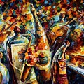 Bottle Jazz by Leonid Afremov