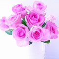 Bouquet Of Pink Roses by Nina Ficur Feenan