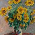Bouquet Of Sunflowers by Claude Monet
