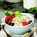 Breakfast With Oats And Berries by Natalia Klenova