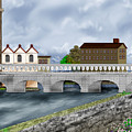 Bridge In Old Galway Ireland by Anne Norskog