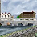 Bridge In Old Galway Ireland by Anne Norskog