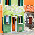 Burano Anisland Of Multi Colored Homes On Canals North Of Venice Italy by Bruce Beck