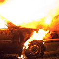 Burning Car by Ian Rasmussen