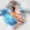 Butterfly Ballerina Watercolor   by Gutescu Eduard