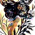 Butterfly Sketch by Debra Lynch