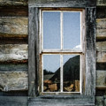 Cabin Window by Todd A Blanchard