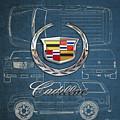 Cadillac 3 D Badge Over Cadillac Escalade Blueprint  by Serge Averbukh