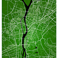 Cairo Street Map - Cairo Egypt Road Map Art On Colored Backgroun by Jurq Studio