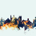 Cambridge England Skyline by Michael Tompsett