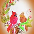 Cardinals Painted By Linda Sue by Linda Sue Bruton