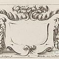 Cartouche by Fran?ois Collignon After Stefano Della Bella