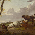 Cattle by Heinrich Wilhelm Schweickhardt