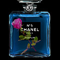 Chanel With Rose by Del Art