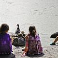 Children At The Pond 5 by Madeline Ellis