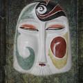 Chinese Porcelain Mask Grunge by Heiko Koehrer-Wagner