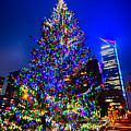 Christmas Tree Near Panther Stadium In Charlotte North Carolina by Alex Grichenko
