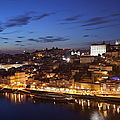 City Of Porto In Portugal By Night by Artur Bogacki
