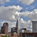 Cleveland Skyline From The Flats River District by Douglas Sacha